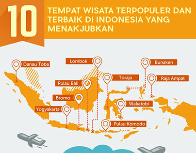 10top beautiful destination in indonesia infographic