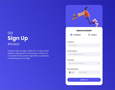 Sign up form - DailyUi