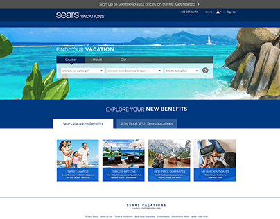 Sears Vacations Redesign & Styleguide