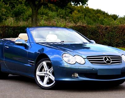 Blue Mercedes Car