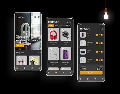 Gadget shop App UI Design