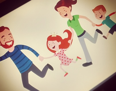 Character Design - Family First Zurich