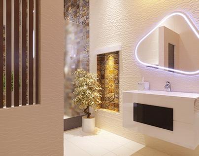 Minimlist Bath Room Interior Design By Wahab Ahmad
