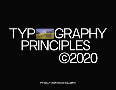 Typography Principles Website