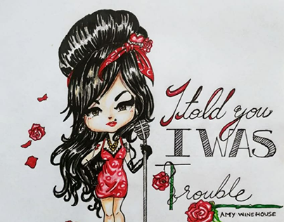 Amy Winehouse - Fan Art Illustration
