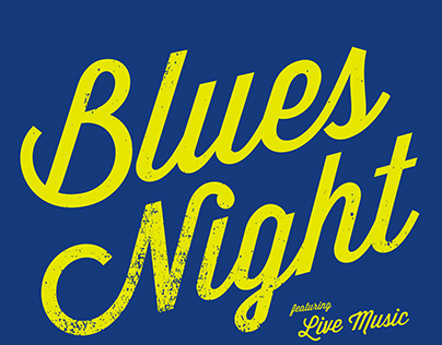 Blues Night Poster
