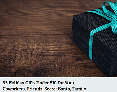 Holiday Gifts Under $10