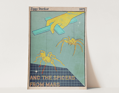 Ziggy Stardust & The Spiders from Mars- Song Poster