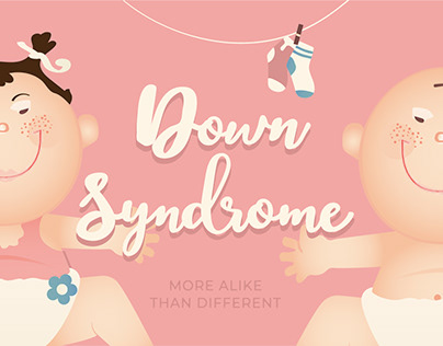 Down Syndrome. Happy children.