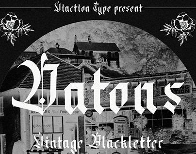 FREE FONT - Datons Blackletter