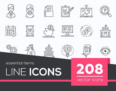 208 Line Icons
