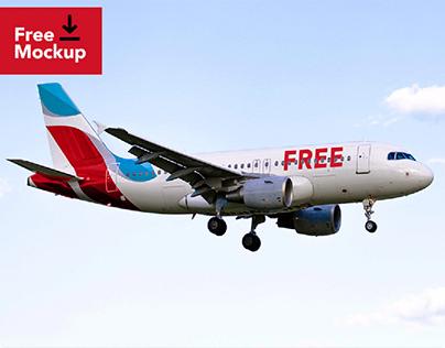 Freebie - Airplane Mockup