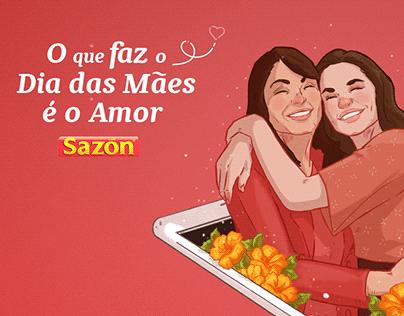 Ilustrações Dia das Mães Sazón | Relation Reach