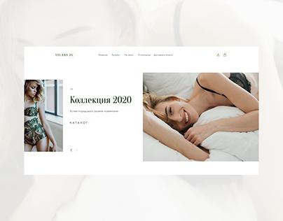 Website for lingerie store