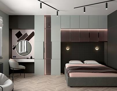 Дизайн-проект спальни 18 кв.м.