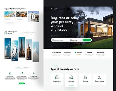 Real Estate Homepage - Zeruma