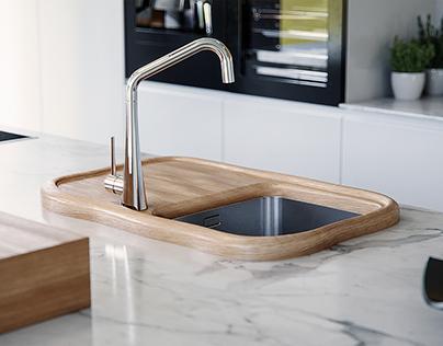 Modern & Wooden Faucet system