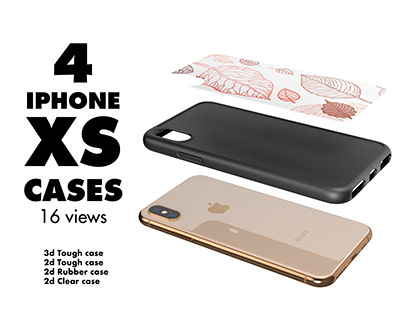 4 iPhone XS Cases Mock-up