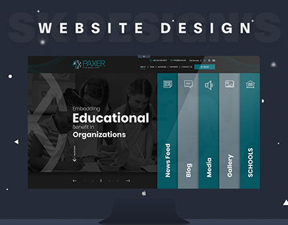 "Trust, NGO, Foundation Website Design ""PAXER"""
