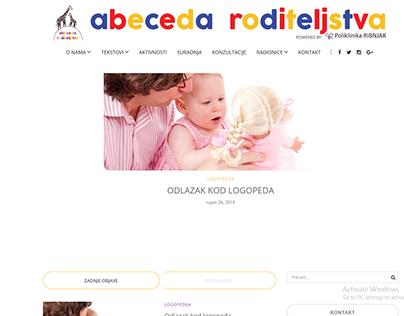 Izrada web stranice za Abecedu roditeljstva