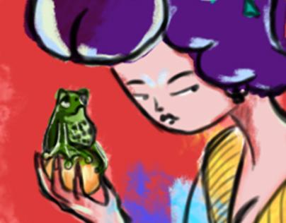Geisha and the frog