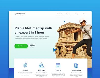 Trip Planning Landing Page