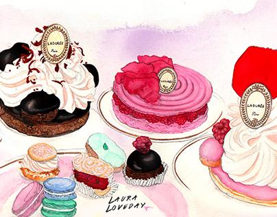 Laduree Cake selection