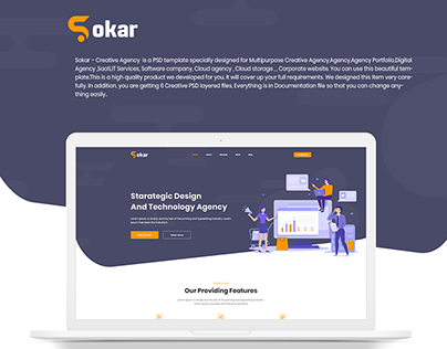 Sokar – Creative Agency PSD Template