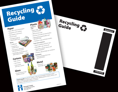 Recycle Guide / Magnet Mailer