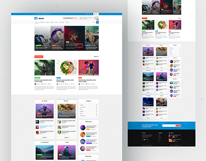 Work-Blog Website Design