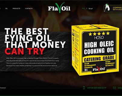 Promo site for oil. Flavoil landing