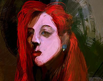 Red girl \ portrait