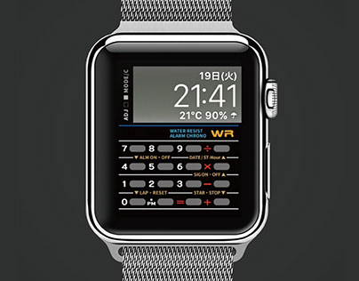 apple watch face like a casio data bank style