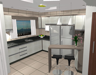 Cozinha-Sala Gilmar Móveis Sob Medida 100% MDF
