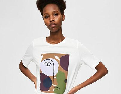 Minimalist Graphics T-shirt // SELECTED FEMME