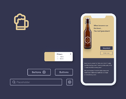 Beertown - design system and e-commerce