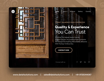 Cabinet, Millwork and Finish Contractor Website Design