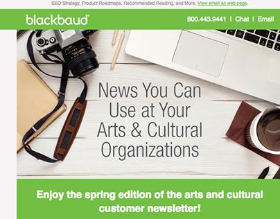 Blackbaud Newsletter Redesign