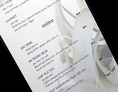 Thai Menu Design