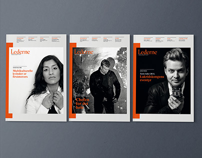 Lederne - magazine redesign