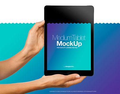 iPad Pro Air 2 Black PSD Mockup