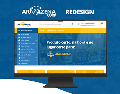 Armazena Corp - Redesign website