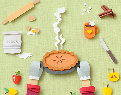 Apple Pie | Paper art