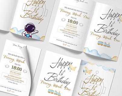 Invitation for 1st Birthday
