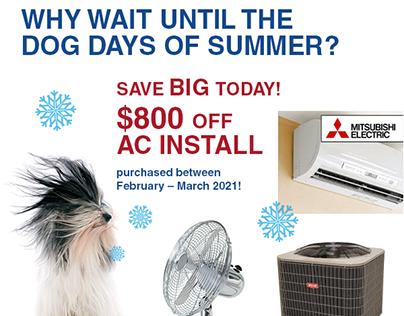 """Cool Dog"" AC Install Ads"