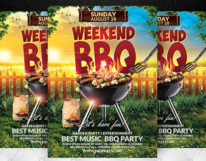 Weekend BBQ Flyer Template