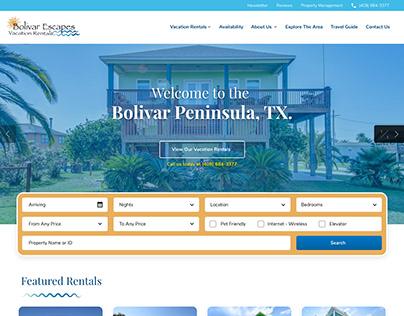 Bolivar Escapes Vacation Rentals Wordpress Website