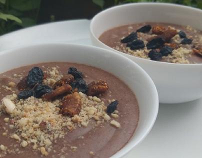 Ragi porridge + Garnished with Nuts!
