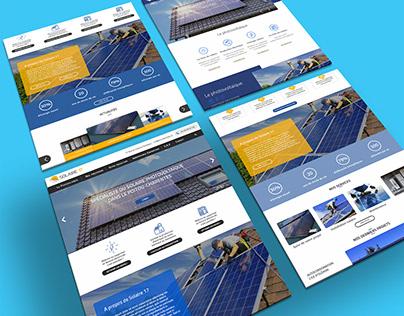Propositions Maquettes Projet Site Web Solaire