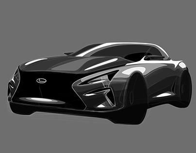 Lexus Coupe Concept Sketch